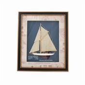 Tavla segelbåt 47x40cm